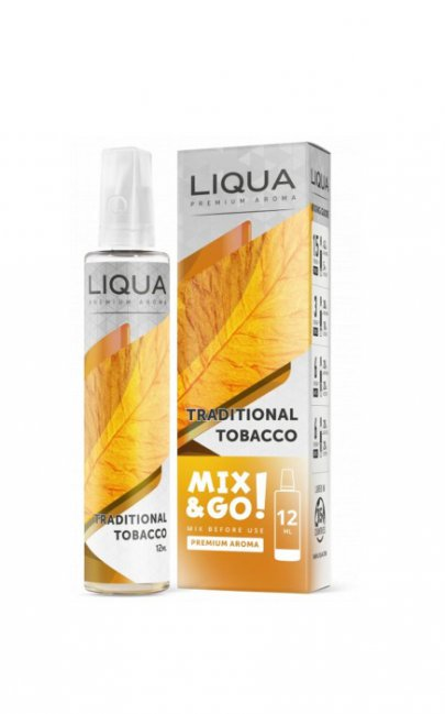 Příchutě Liqua Mix&Go Traditional Tabacco 12Ml